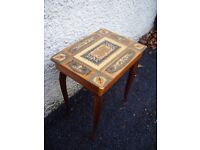 Antique ladies sewing/needlework table, box. 50's/60's