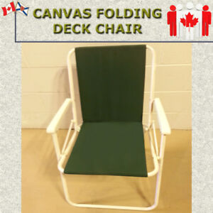 TWO CANVAS FOLDING DECK CHAIRS - GREAT CONDITION $25