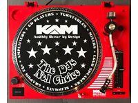 KAM DJ TURNTABLES & MIXER - AS NEW