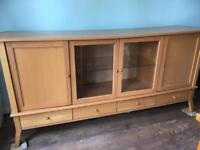 Light Oak Veneer Sideboard For Sale