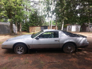1982 Pontiac Firebird, as is, serious inquiries, to be towed