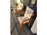 Garden Bench - Homebase Peru 2 Seater Wooden Companion Seat