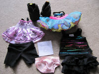 Bundle 6 - set of BABW or equivalent bear clothes + black boots-£10