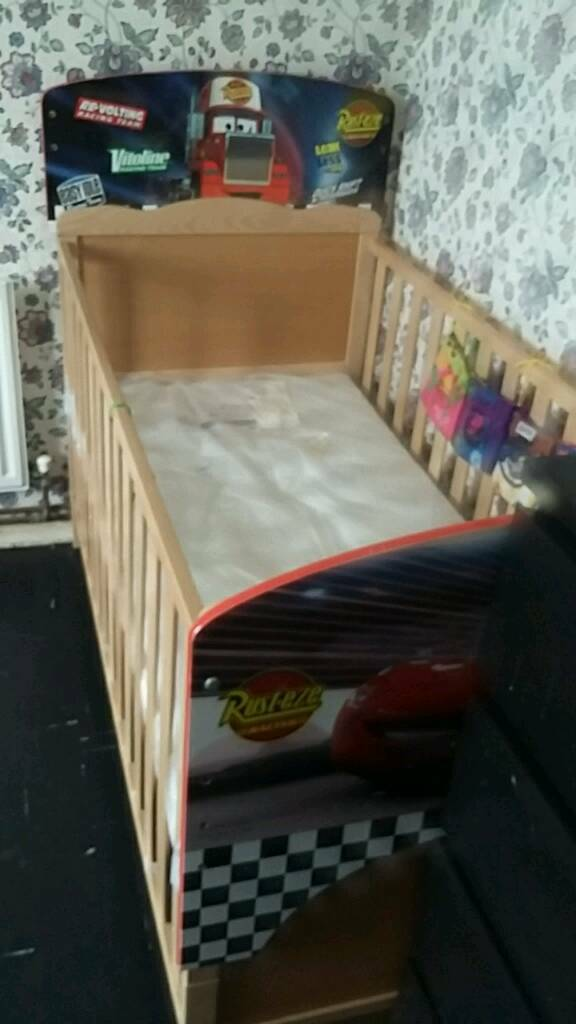 Brand new toddler bed and cot with sealed air tight mattress unused