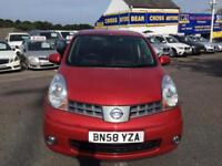 2008 NISSAN NOTE 1.6 16v RED
