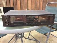 Twin cassette tape deck