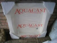 Aquacast stone white shower tray 800 x 800 cm - new, still in packaging