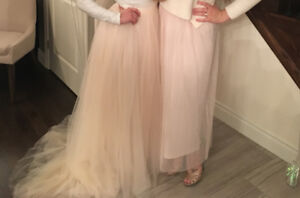 Tulle skirt (on the right)