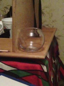 15 - 20. Small fish bowl vases