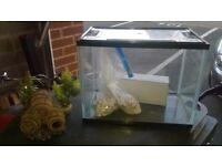 Plastic Fish Tank / Aquarium, with filter