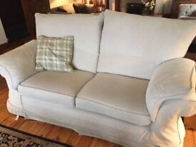 FREE - 2 x matching Sofas . Cream loose covers. 2 seater and 3 seater FREE!