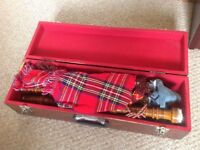 Bagpipes in wooden carry case