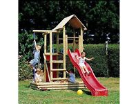 Houtland wooden children's play area with slide