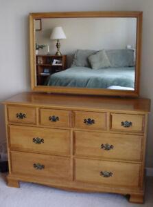Large Vilas Double Dresser, Mirror, Clean, Excellent Condition!