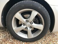 Mazda alloy wheels with tyre 205/55/r16 DUNLOP x 4
