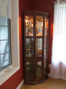 2 Curio Cabinets