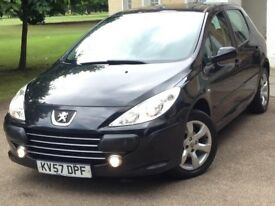 Peugeot 307 2007reg 1.6turbo diesel 80k milleage Excellent throughout very nice and cheap to run