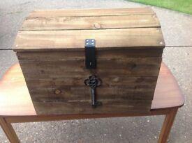 Wooden storage, decorative chest