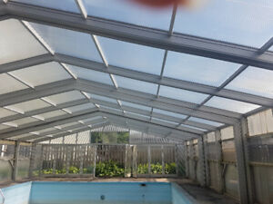Pool Enclosure/Green House retractable (reduced price)