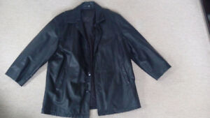 Two mens xl leather jacket