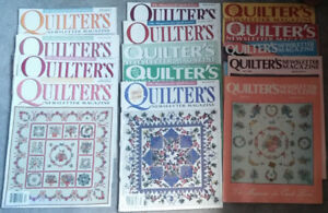 40+ quilt magazines and books