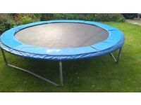 springtime trampoline,galvanized springs,ensures even bounce return to middle.