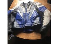 Mens 2 piece motorbike leathers