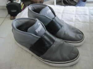 Puma Lifestyle Grey Slip-On's High Top Shoes - Size 10.5