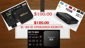 Android TV Boxes starting at $100 each with a one year guarantee