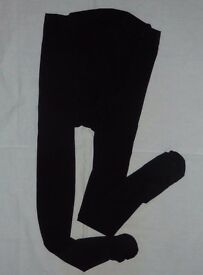 2 Pregnant Women Maternity Tights 120 Denier (black and claret red)