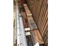 "Victorian Reclaimed Pine Floorboards 3/4"" X 81/2"" X45m plus shutter panel"