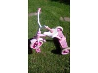 Little pink metal framed trike bike free