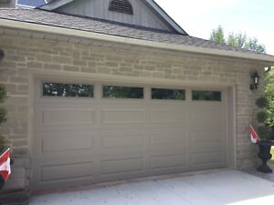 16 X7 Sandstone insulated garage door.  Only 2months old