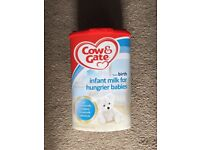 Cow&gate hungrier baby milk (unopened)