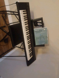 Electronic keyboard,  with stand and Chair