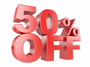 50% OFF OF EVERYTHING STOREWIDE