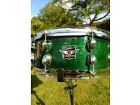 Premier Cabria snare drum. Drum kit heads