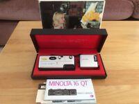 Minolta 16mm Subminiature camera.