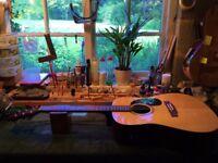 Electro Acoustic Encore Dreadnought Guitar