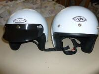 Two crash helmets, THH, unworn one small, one large. £25 each
