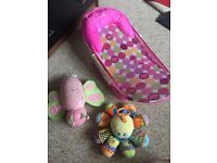 Summer baby girls bath chair