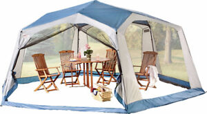 Texsport Party Hut 17' x 15' Hexagon Screen Arbor, New