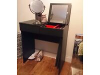 Makeup Table Dressing Table Black