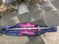 Retro skis for sale with poles and bag - great condition
