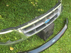 Ford F150 F250 Chrome Grille & Bug Deflector