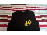 La Muscle Gym Sleeveless/Vest Top Size Small New