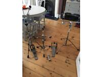 Pearl And Premier Hardware Snare Hi Hat Cymbal Stands
