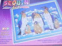 Sequin And Bead Art Penguins Create A Picture Art And Crafts Easy To Follow Instructions