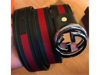 Gucci belt with box and dust bag for sale