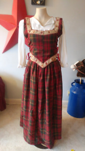 Red Canadian Tartan dress